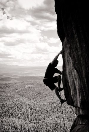 Dave Sheldon rock climbing. Rolfing, Source Point, Craniosacral Therapy, Boulder, Colorado